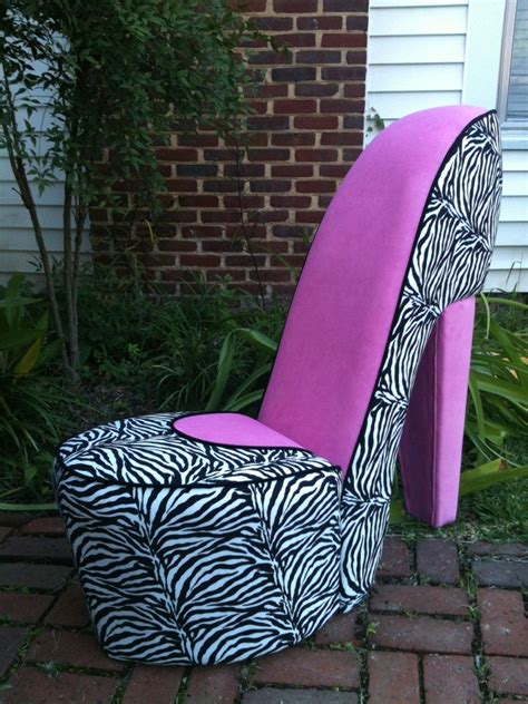high heel chair zebra handmade zebra pink high heel shoe chair by merimeg on