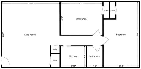 two bedroom floor plan simple floor plans houses flooring picture ideas blogule