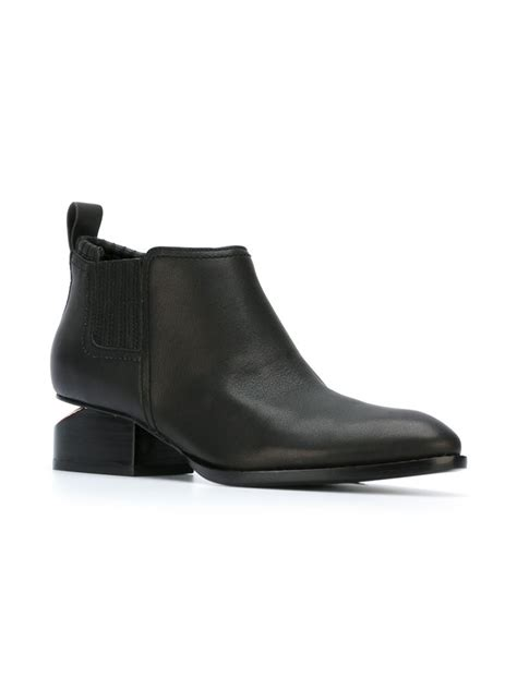 wang boots wang kori ankle boots in black lyst