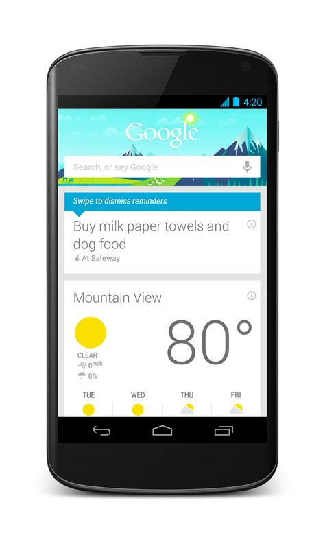 google hands free payment app ready for public testing on android google updates search app for android with location based