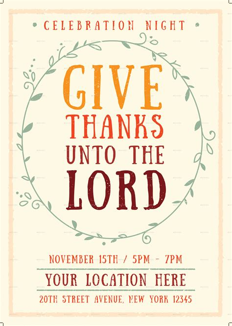 give thanks template give thanks flyer template by me55enjah graphicriver