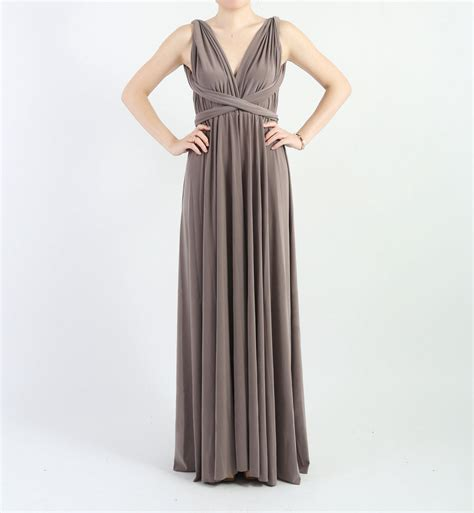 Bridesmaid Dresses 50 Usa - bridesmaid dress infinity dress charcoal grey floor length