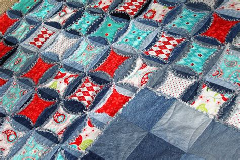 Denim Rag Quilt Pattern by Denim Circle Rag Quilt Pattern