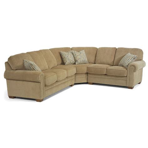 flexsteel sectional sofa harrison sale upholstery hickory