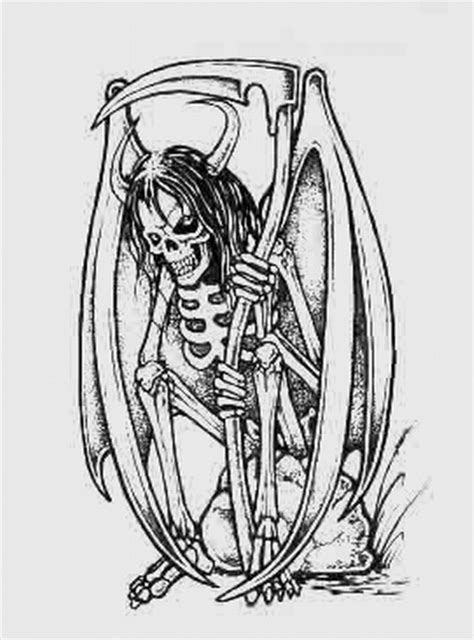 joker kara kalem azrail d 246 vme tattoo