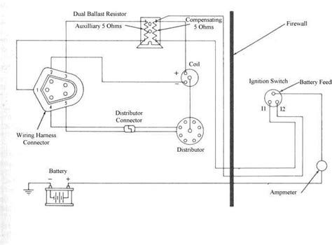 wiring diagram for electronic distributor electronic ignition diagram