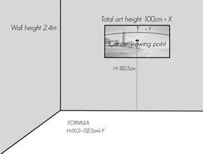 picture hanging height formula how s it hanging how to hang your artwork jon wright