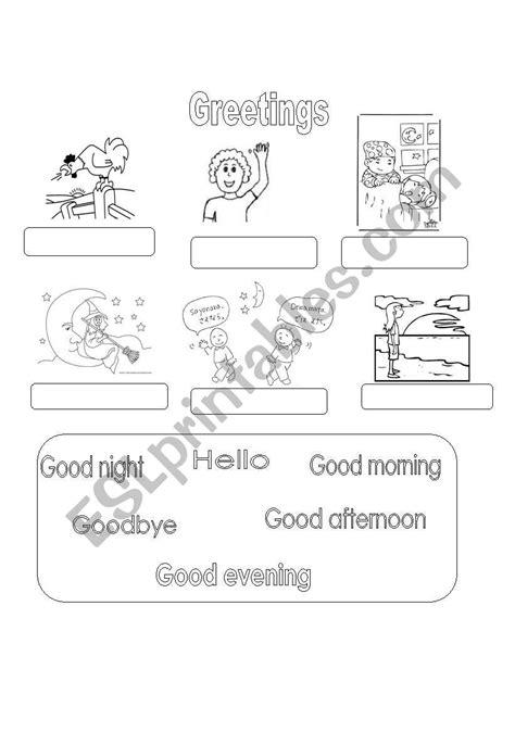 greetings worksheets for my greetings esl worksheet by donny35
