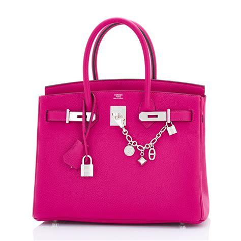 H Rmes Birkin Croco 30 Cm Shocking Pink hermes birkin bag 30cm pourpre togo palladium hardware world s best