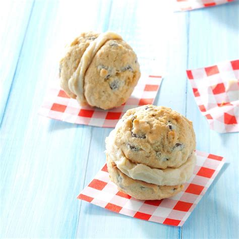 caramel chocolate chip sandwich cookies recipe taste of home
