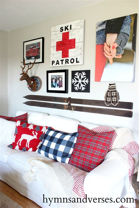 mountain condo decorating ideas ski lodge gallery wall hymns and verses