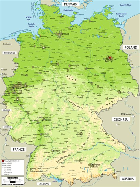 map germany maps map of germany