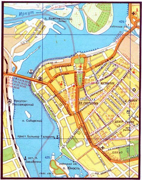 irkutsk map www irkutsk transport tips