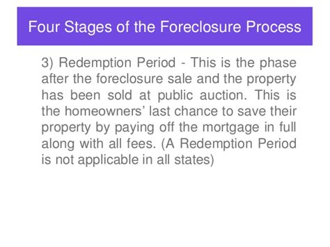 what is a redemption period in a foreclosure ehow how to dominate your market with short sale and bank reo s