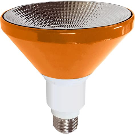Orange Outdoor Lights Illumin8 Ipar38 Deco Or Par38 Orange Led Light Bulb Non Dimmable 9 Watt Great Brands Outlet