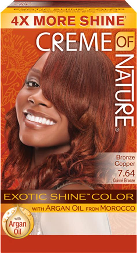 creme of nature hair colors 7 64 bronze copper shine hair color creme of nature