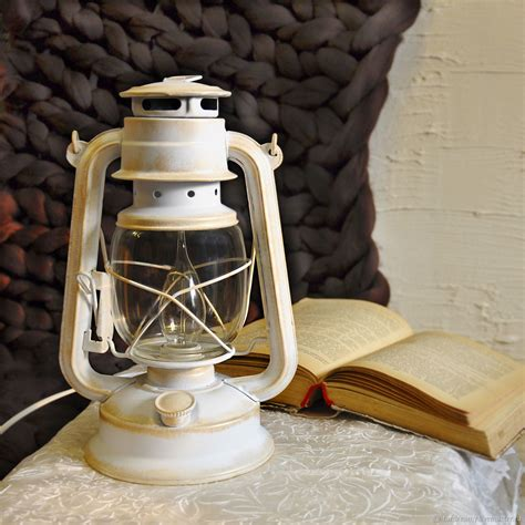 electric kerosene style ls l electric oil lantern white provence retro