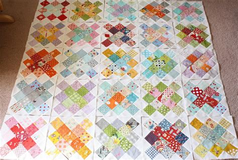 Basic Patchwork Quilt - why not sew honey bees squares and simple patchwork