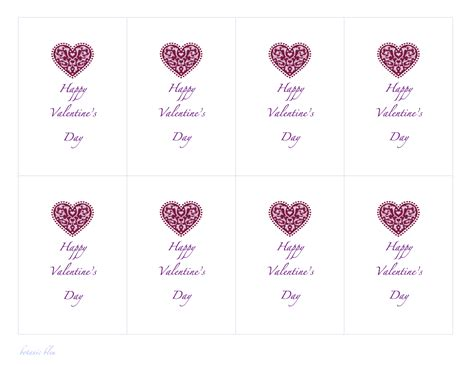 28 valentine cards templates name card template