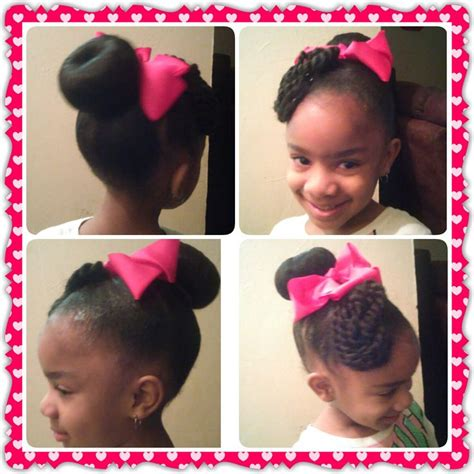 kids braids with bun 78 best images about natural kids buns on pinterest