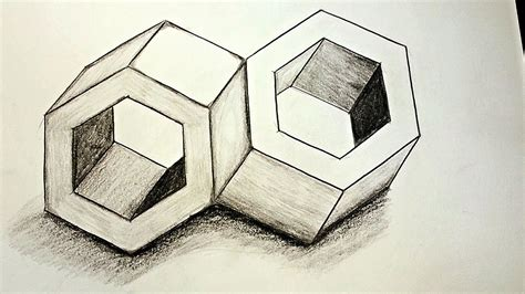 how to make 3d illusion l how to draw 3d optical illusions inseparable youtube