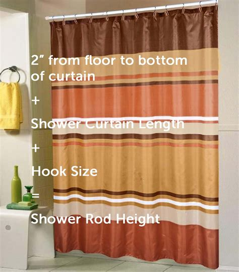 Height Of Curtains Inspiration Standard Shower Curtain Height Best Inspiration From Kennebecjetboat