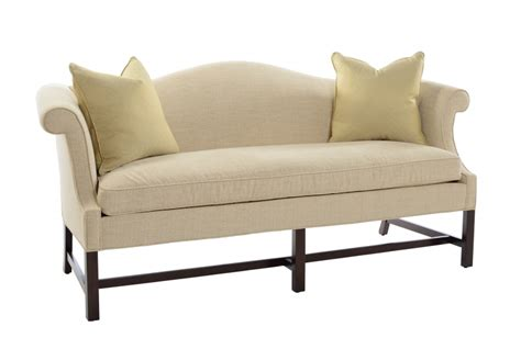 plain leg camelback sofa