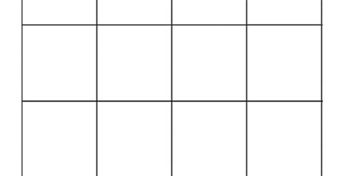 4x4 bingo template bingo pelipohja m a t h s word work