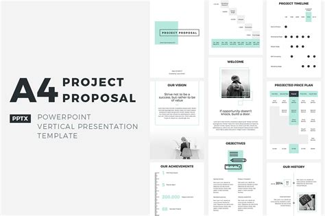 Project Slides Template A4 Project Powerpoint Presentation Templates