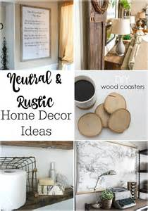 diy home decorating blogs neutral rustic home decor ideas link party 142 mom