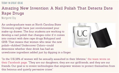 nail polish for detecting date rape drugs undercover colors hood scientist the undercover colors of science innovation
