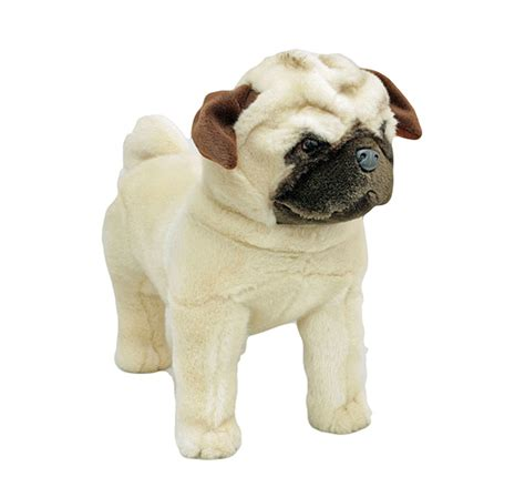stuffed pug pug standing stuffed animal soft plush new 16 quot 40cm pugley ebay