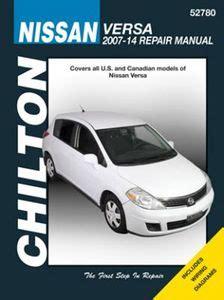 chilton car manuals free download 2012 nissan versa electronic toll collection nissan versa chilton repair manual 2007 2014 hay52780
