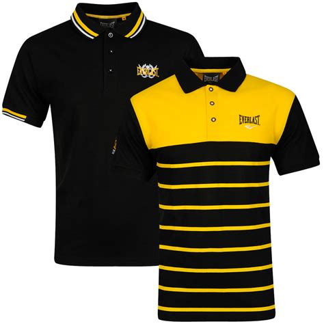 I Monday Yellow Shirt everlast s 2 pack polo shirt black yellow white