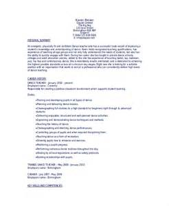 Cover Letter For Ballet Dancer Model Resume