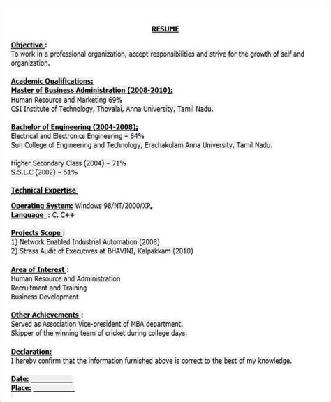 Fresher Business Analyst Resume Doc by 40 Fresher Resume Exles