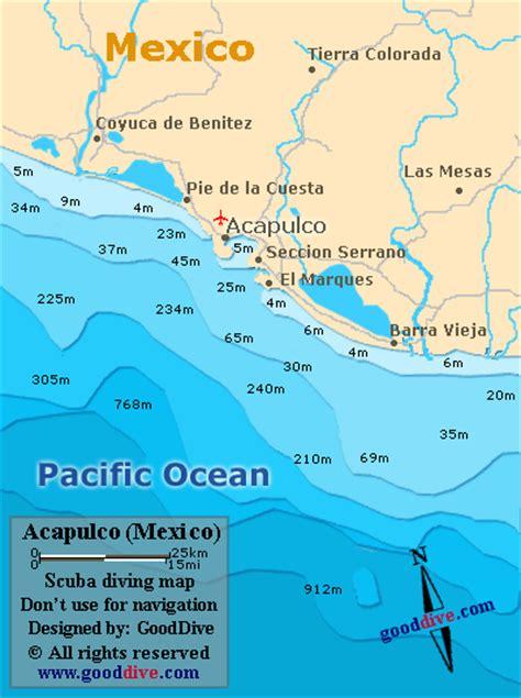 map of mexico acapulco acapulco map gooddive