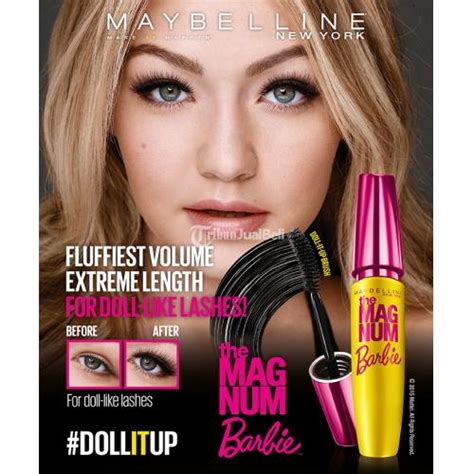 make up mascara magnum maybelline ori murah doll it