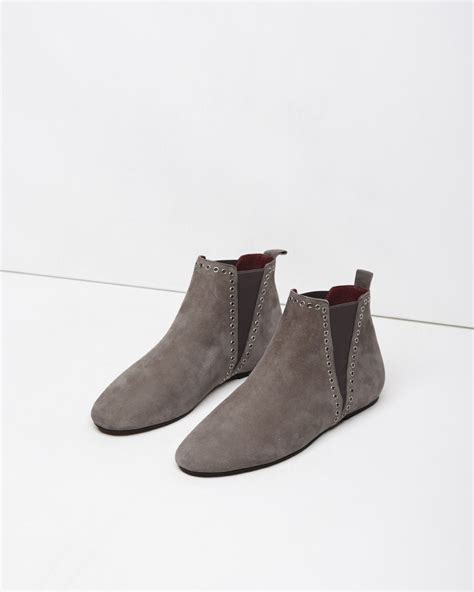 marant slippers marant lars eyelet suede ankle boots in brown lyst