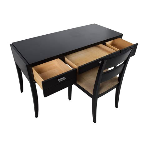 78 Crate Barrel Crate Barrel Black Wood Desk