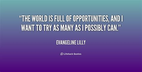 Quotes About Opportunity And World. QuotesGram