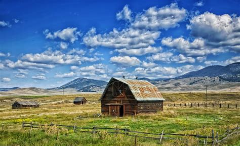 scheune usa kostenloses foto montana scheune landschaft
