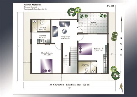 east facing duplex house floor plans 30 40 east facing duplex house plan