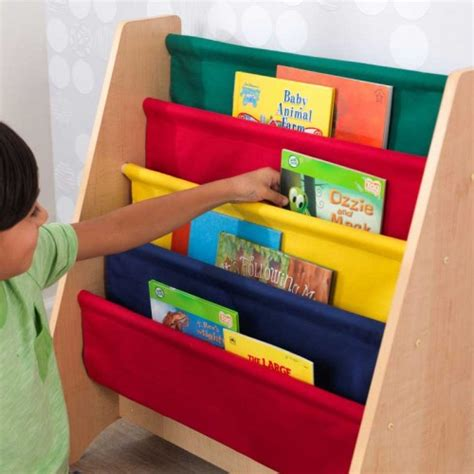 kidkraft primary sling bookshelf 14226 28 images