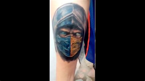sub zero tattoo scorpion sub zero