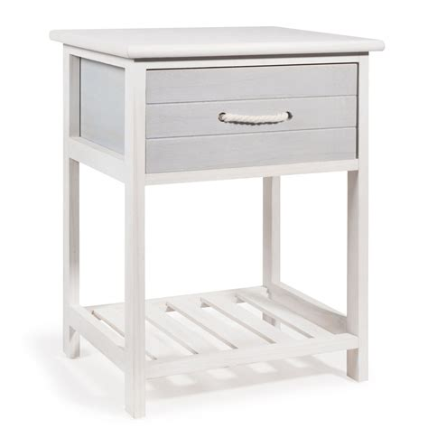 comodino 30 cm comodino in legno bianco l 30 cm oleron maisons du monde
