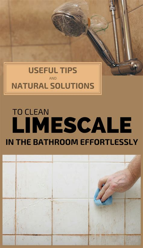tips  natural solutions  clean limescale