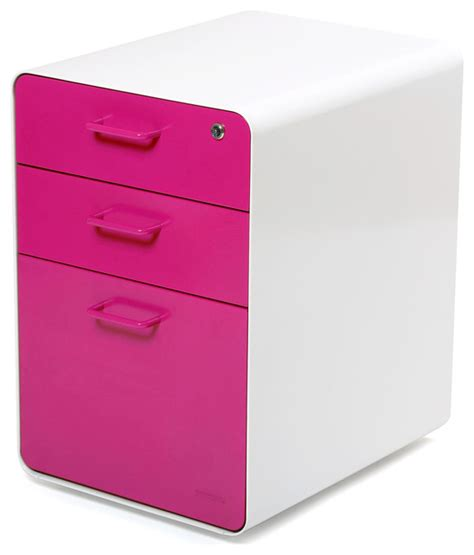 Pink Filing Cabinet West 18th File Cabinet White Pink Contemporary Filing Cabinets
