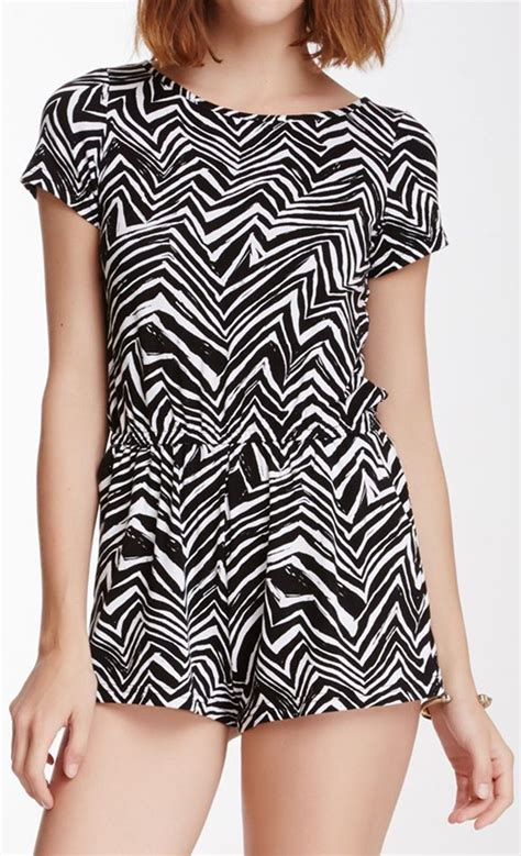 black and white patterned playsuit 208 best images about chevron zig zag print pattern on