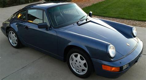 1990 porsche 911 blue 1990 porsche 911 c2 w 23k original rennlist